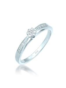 Ring Verlobungsring Diamant (0.085 Ct.) 585 Weißgold DIAMORE Silber