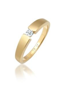 Ring Verlobungsring Diamant (0.11 Ct.) 585 Gelbgold DIAMORE Gold
