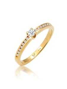 Ring Verlobungsring Diamant (0.18 Ct.) 585 Gelbgold DIAMORE Gold
