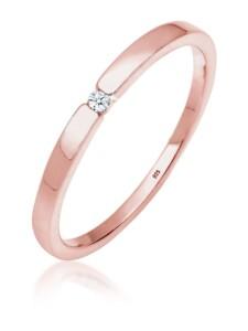 Ring Verlobungsring Klassiker Diamant (0.015 Ct.)Silber DIAMORE Rosegold