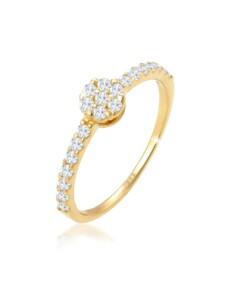 Ring Verlobungsring Topas Edelstein Fein 585 Gelbgold Elli Premium Gold