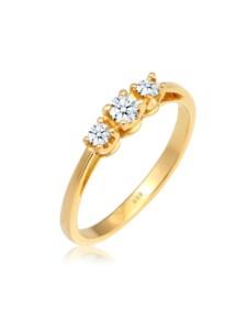 Ring Verlobungsring Trio Diamant 0.23 Ct. 585 Gelbgold DIAMORE Gold