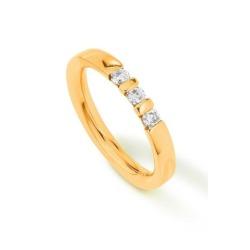 Ring von Palido mit einem 0,23 ct Brillant in Memoirering-Optik