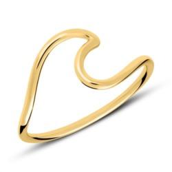 Ring Wave aus vergoldetem Sterlingsilber
