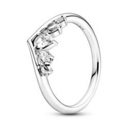 Ring Wishbone für Damen aus Sterlingsilber mit Zirkonia