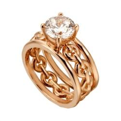 Ringset Ann 925er Silber rosévergoldet Zirkonia