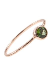 Roségold Ring Green Turmalin