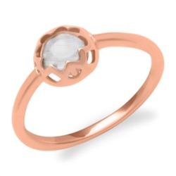 Rosévergoldeter Silberring klarer Steinbesatz