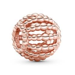 ROSE Metallperlen-Charm für Damen