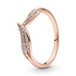 ROSE Ring Blätter für Damen mit Zirkonia