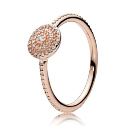 Rose Ring für Damen Zirkonia
