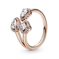 ROSE Ring Geometric Shapes für Damen mit Zirkonia