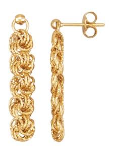 Rosen-Ohrringe Diemer Gold Gelbgoldfarben