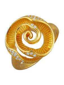 Rosen-Ring Diemer Trend Gelbgoldfarben