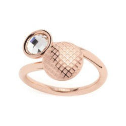 Rosévergoldeter Edelstahl Ring Delicato für Damen