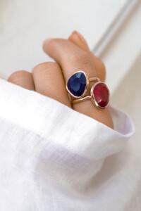 RUBIN Ring rosé vergoldet