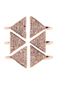 SAMANTHA Roségold Layer Ring Diamanten