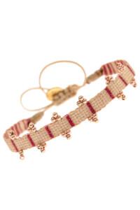 SANTA FE Armband Red Stripes