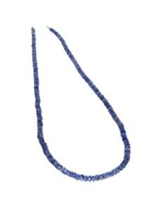 Saphir Edelstein Stein Strang ohne Schließe 1001 Diamonds blau