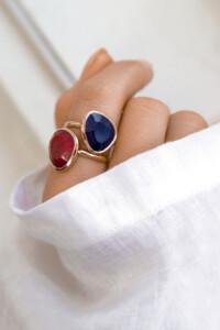 SAPHIR Ring rosé vergoldet