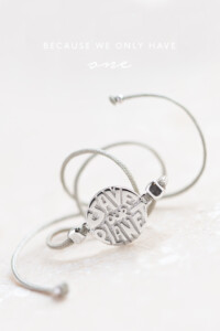 SAVE OUR PLANET Armband Sterling Silber