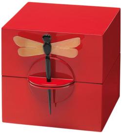 Schatulle 'Dragon Fly', rote Version, Schmuck