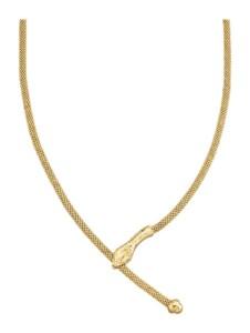 Schlangen-Collier Diemer Trend Gelbgoldfarben