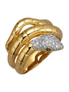 Schlangen-Ring Diemer Diamant Weiß