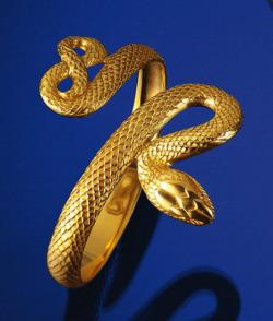 Schlangenschmuck 'Apophis-Armreif', Version vergoldet, Schmuck