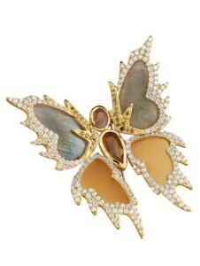 Schmetterling-Brosche KLiNGEL Multicolor
