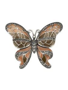 Schmetterlings-Brosche Esse Braun