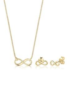 Schmuckset Infinity Unendlichkeit 375 Gelbgold Elli Premium Gold