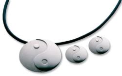 Schmuckset 'Yin und Yang', Version Silber, Schmuckset