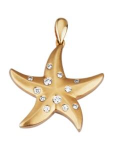 Seestern-Anhänger Diemer Diamant Gelbgoldfarben