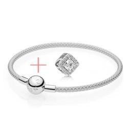 Set Geometrischer Glanz 925er Silber