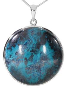 Shattuckit Anhänger 925 Silber 1001 Diamonds blau