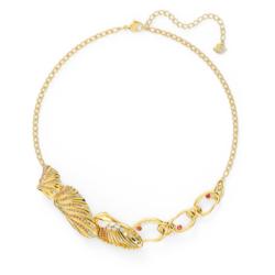 Shell Halskette, mehrfarbig hell, vergoldet