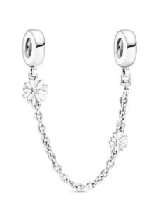 Sicherheitskette -Gänseblume- Pandora Silberfarben