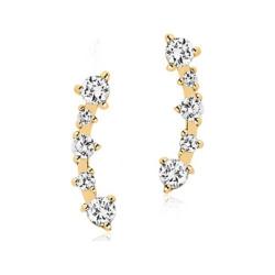 Sif Jakobs Jewellery Creole Princess SJ-E2420-CZ-YG