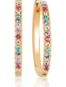 Sif Jakobs Jewellery Damen-Creolen 925er Silber Zirkonia Sif Jakobs Gelbgold