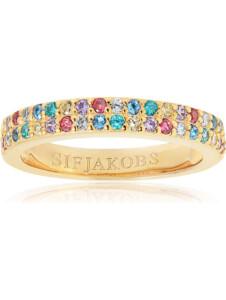 Sif Jakobs Jewellery Damen-Damenring 925er Silber rhodiniert Farbstein Sif Jakobs gold