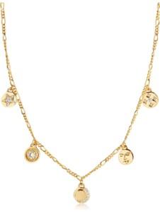 Sif Jakobs Jewellery Damen-Kette 925er Silber Zirkonia Sif Jakobs Gelbgold
