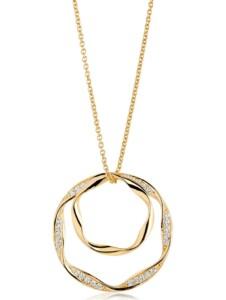 Sif Jakobs Jewellery Damen-Kette Cetara Due Grande 925er Silber Zirkonia Sif Jakobs gelbgold