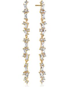 SIF JAKOBS JEWELLERY Ohrringe im SALE Ohrhänger aus Silber, SJ-E0322-CZ-YG, EAN: 5710698067159