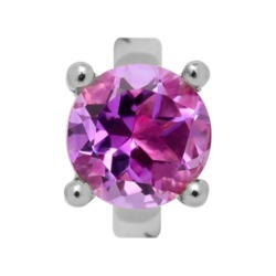 Silber Charm Round Amethyst