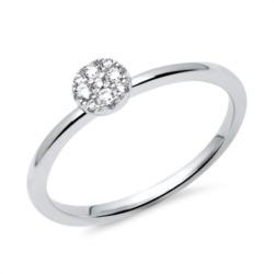 Silber Ring 925er Zirkonia besetzt
