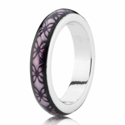Silber Ring mit Emaille