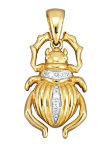 Skarabäus-Anhänger Diemer Diamant Gelbgoldfarben