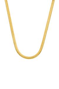 SNAKE CHAIN Halskette gelb vergoldet Petite