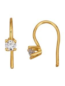 Solitär-Ohrringe Diemer Solitär Gelbgoldfarben